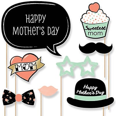 Mothers Day Photo Booth Props Kit