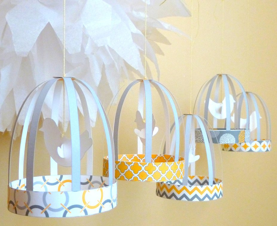 Paper Birdcage Party Printable Templates