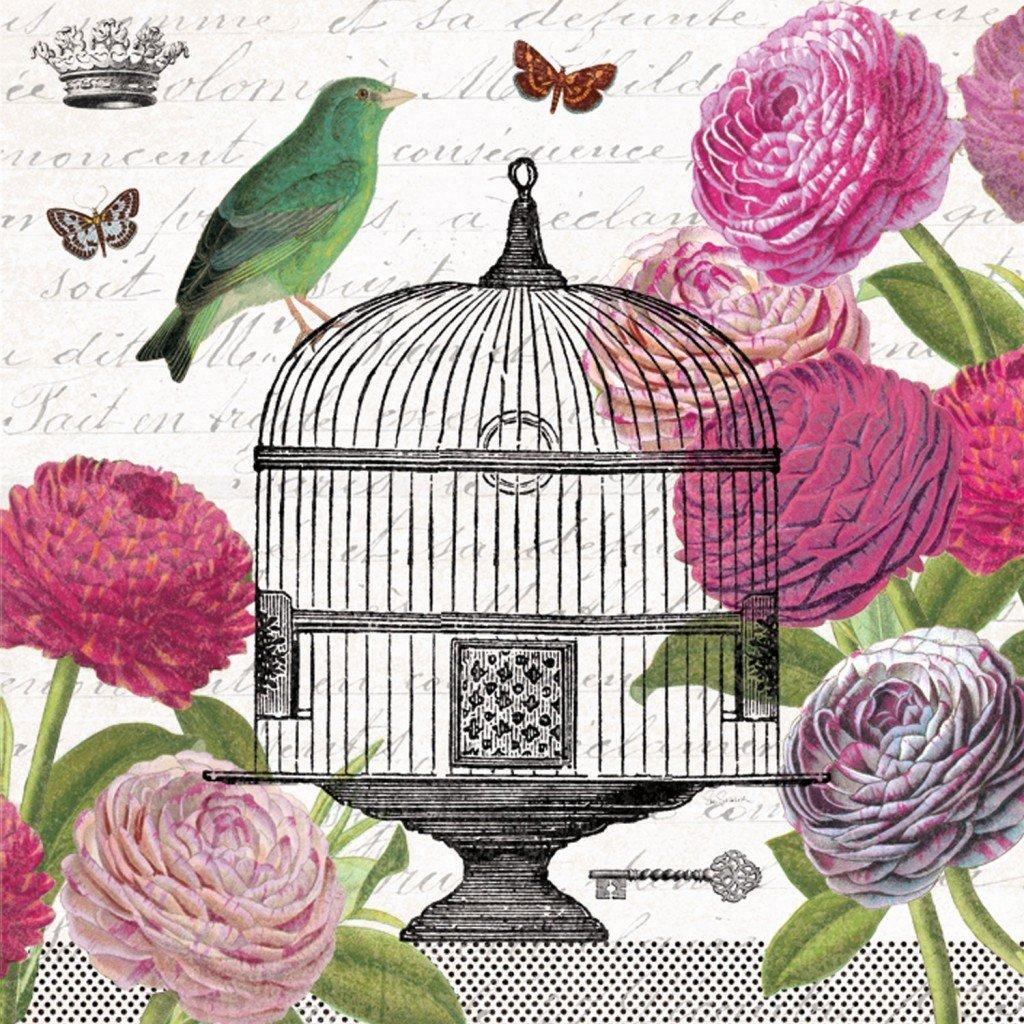 Passerines Vintage Birdcage Napkins