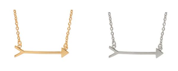 Pi Phi Arrow Necklace