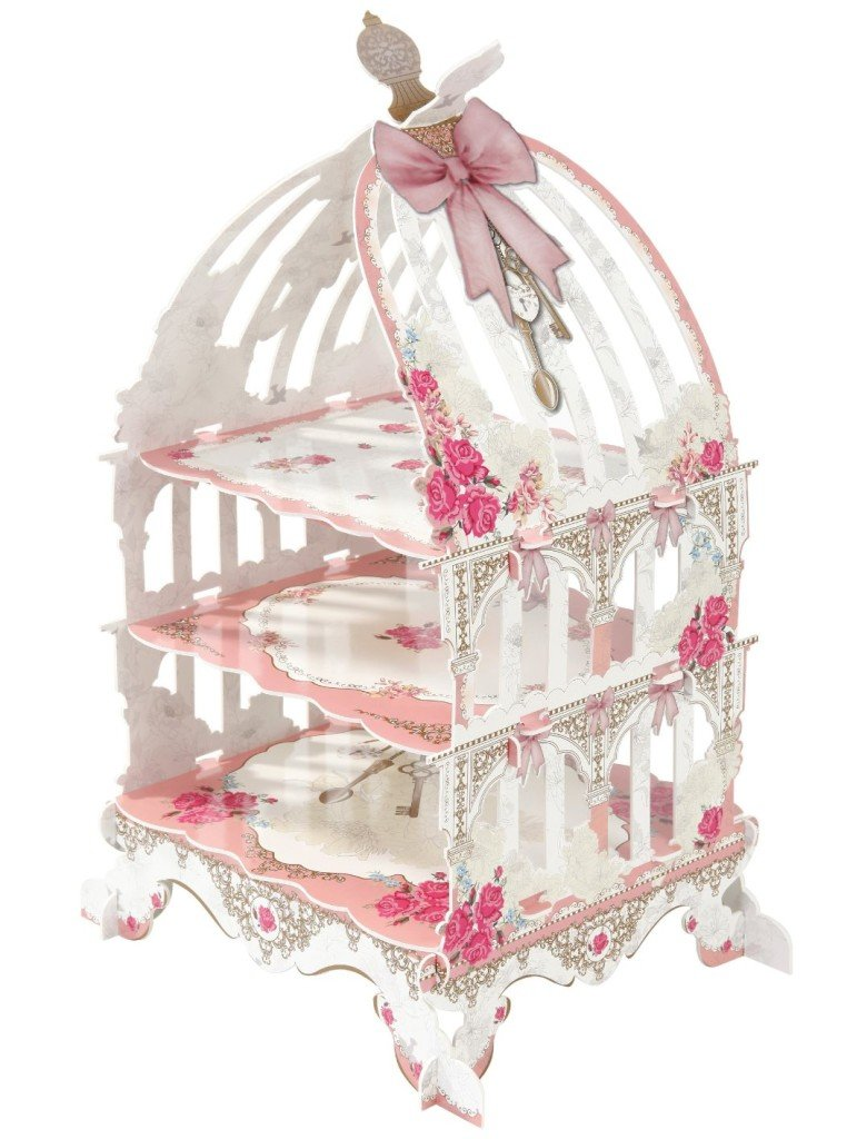 Pink Birdcage Cake Stand