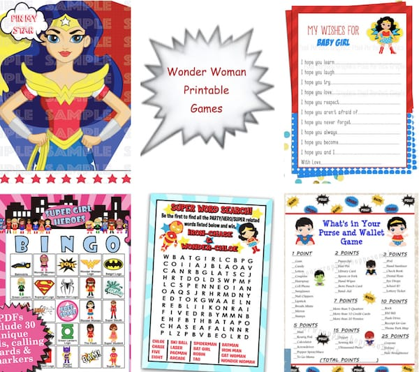 Printable Wonder Woman Games