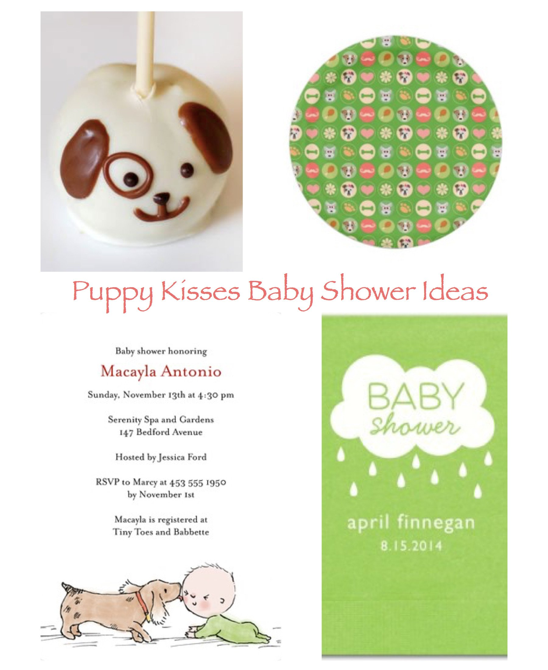 Puppy Kisses Baby Shower Ideas