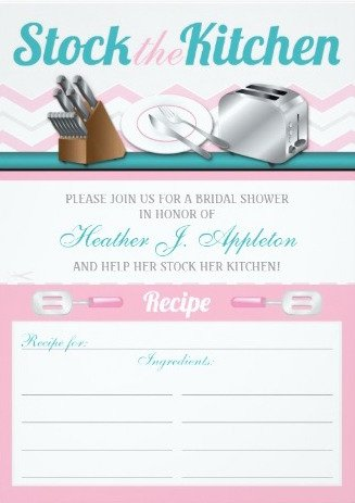 Recipe Stock the Kitchen Bridal Shower Invitations