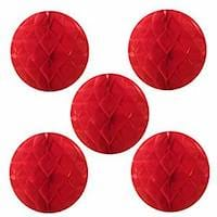 Red Tissue Honeycomb Ball Party Decorations