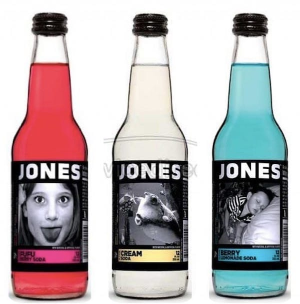 Red White & Blue Jones Soda
