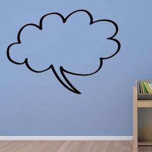 Speech bubbles wall decals