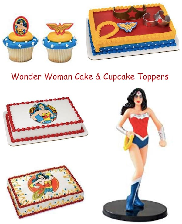Wonder Woman Cake and Cupcake Toppers
