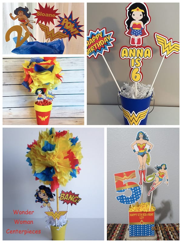 Wonder Woman Centerpieces