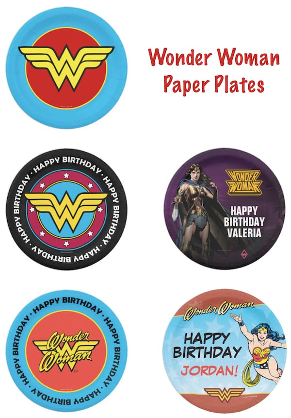 Wonder Woman Paper Plates