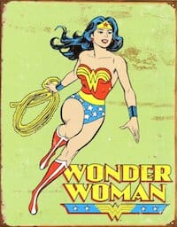 Wonder Woman Retro Metal Tin Sign