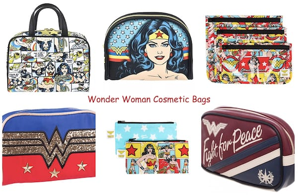 Wonder Woman Cosmetic Bags