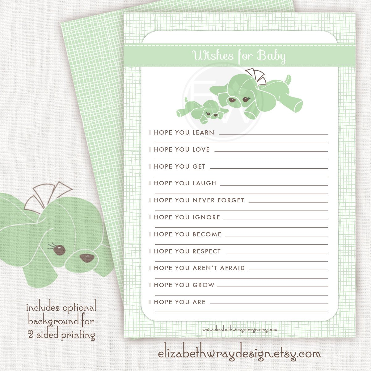 baby shower wishes for baby card