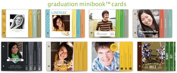 graduation minibook cards