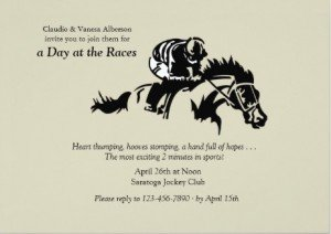 horse and jockey derby party invitation