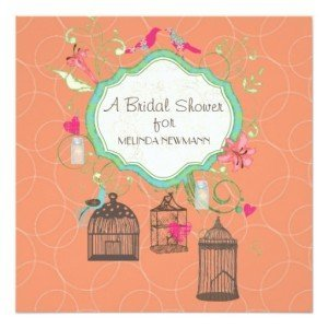 Mod Bird Cage Bridal Shower Invitation