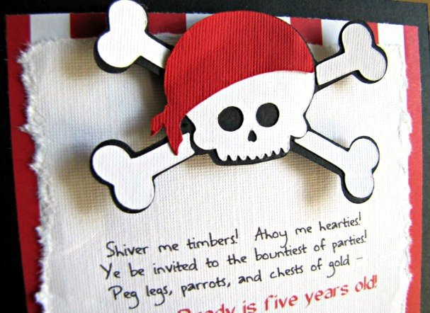 Handmade Pirate Party Invitation
