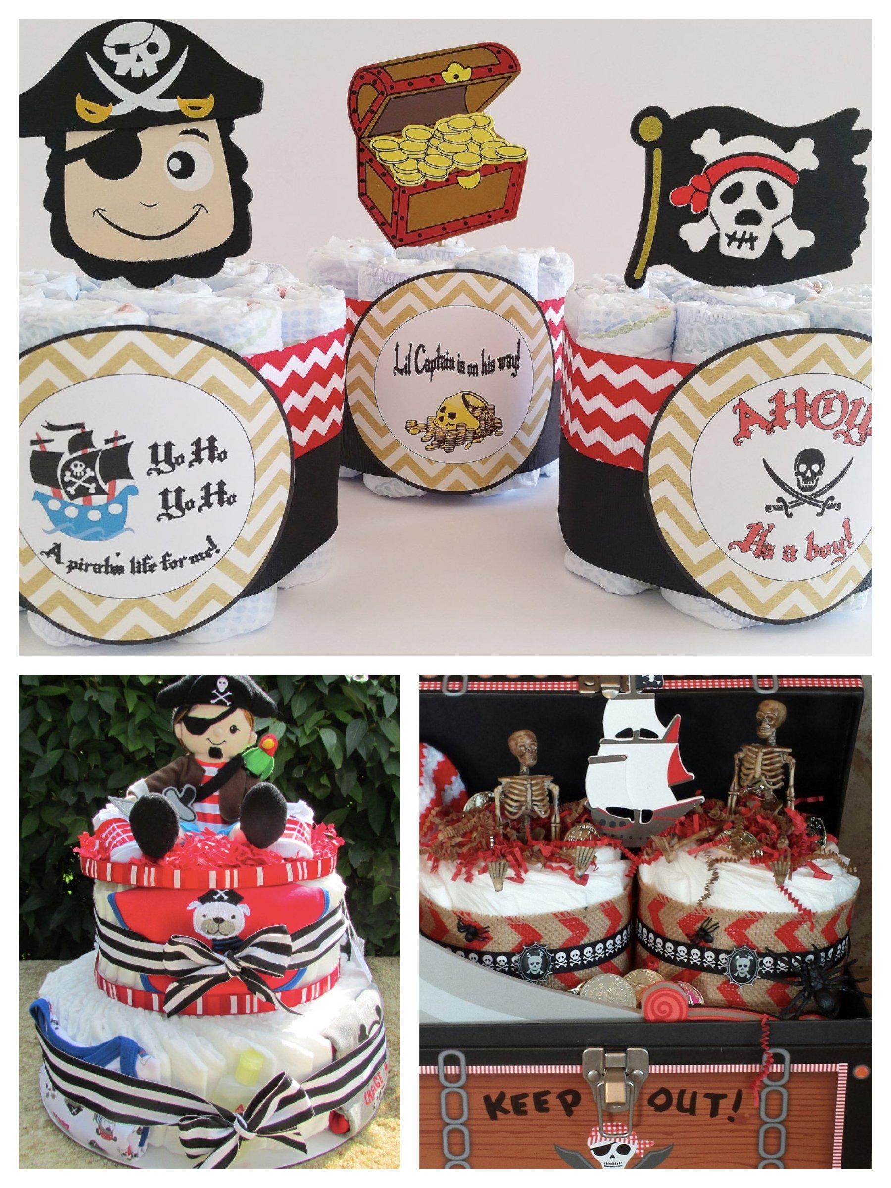 Pirate Diaper Cakes