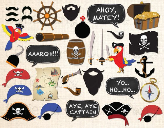 Printable Pirate Party Photo Props