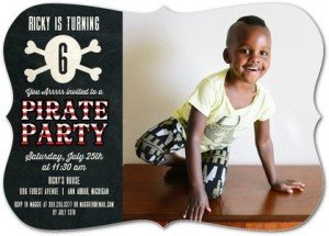 You Arrr Invited Pirate Birthday Party Invitations