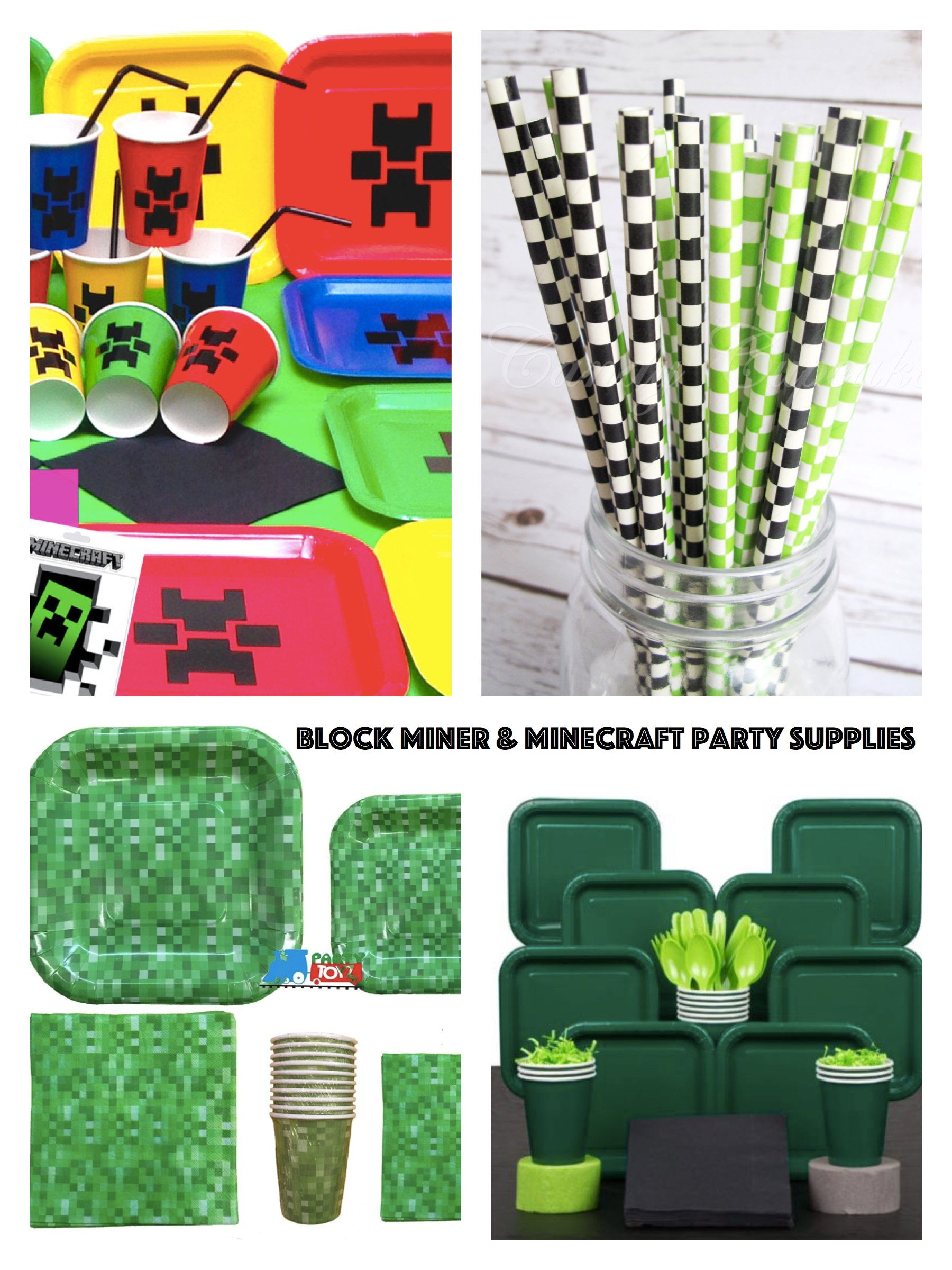 Minecraft Party Decorations Block Miner Minecraft Party Planning Ideas Supplies