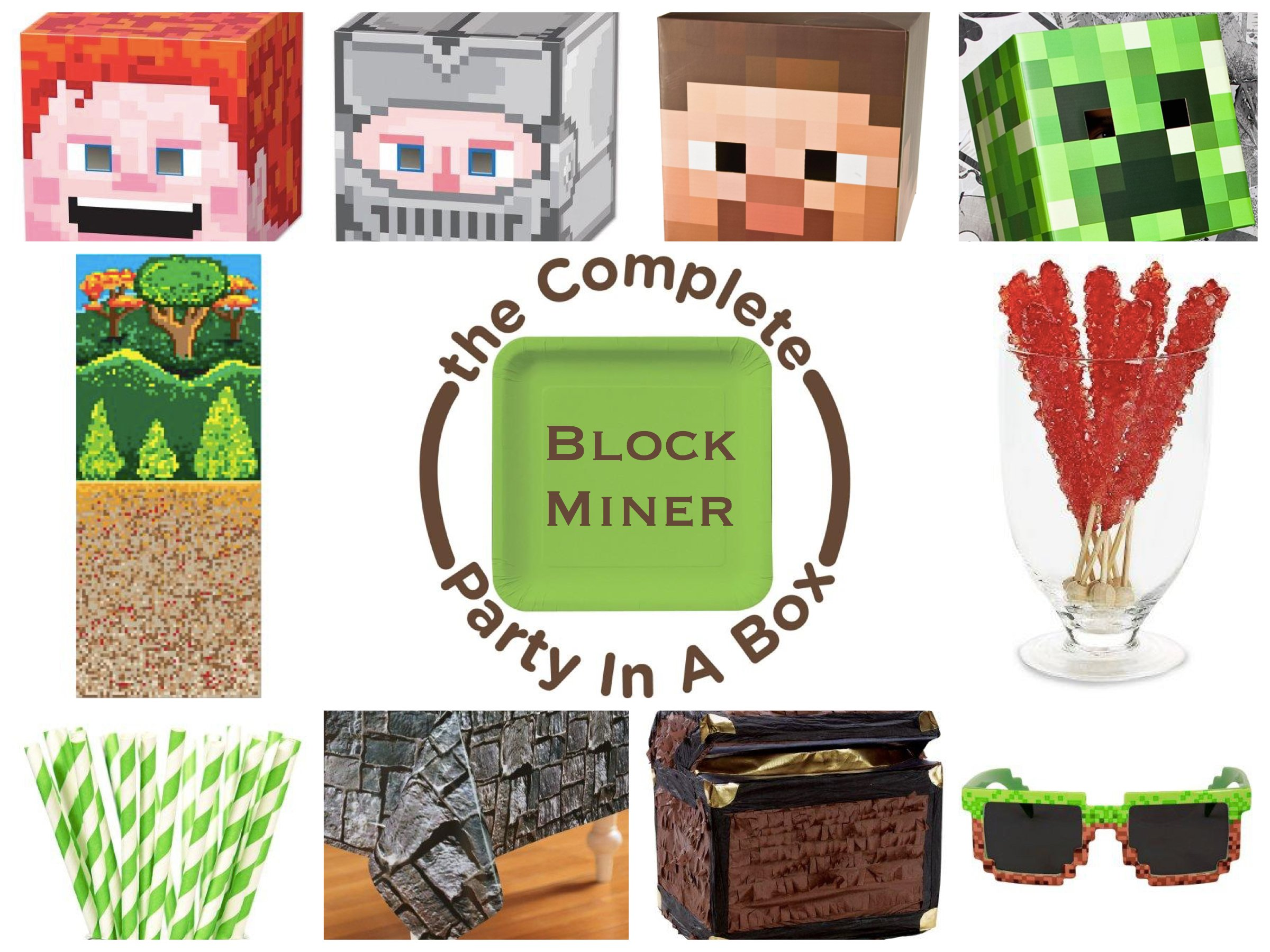 Block Miner Party Supplies