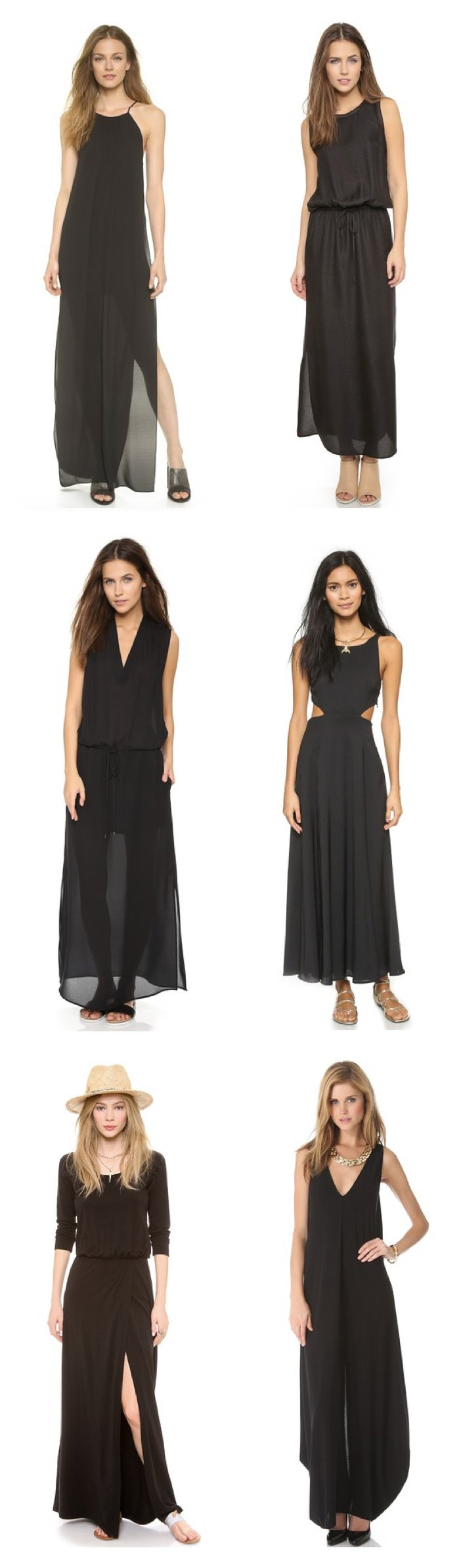 Classic Black Maxi Dresses, What to Wear to a Taylor Swift Dinner Party (or any Dinner Party!)