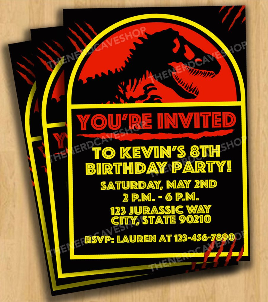 Dinosaur Customizable Digital Invitations