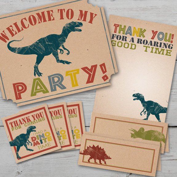 Dinosaur Dig Printable Birthday Kit
