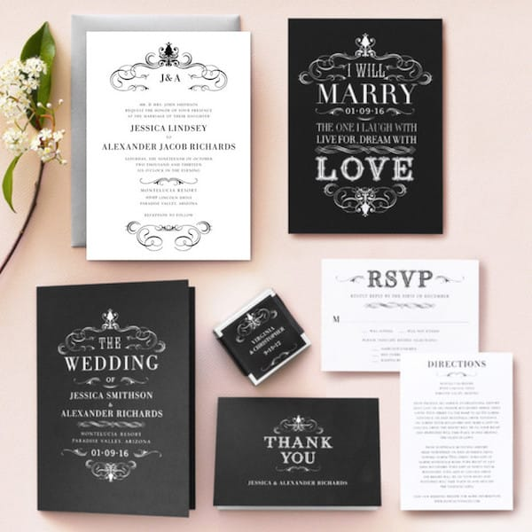 Haute Heraldry Wedding Invitation Suite