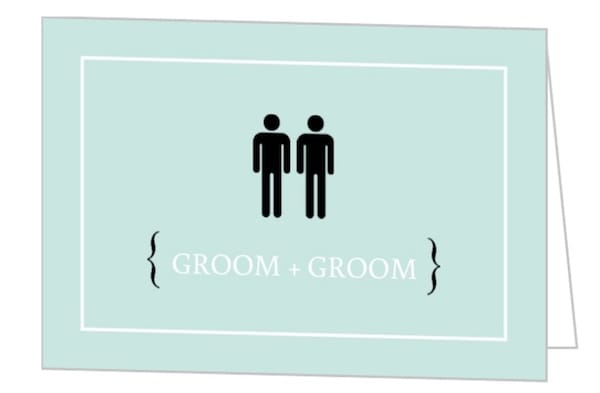 Male Icons Groom & Groom Wedding Invitation