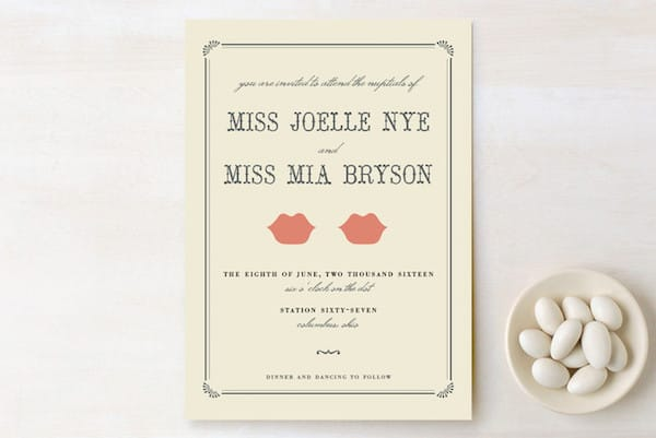 Kiss + Kiss Printable Wedding Invitations