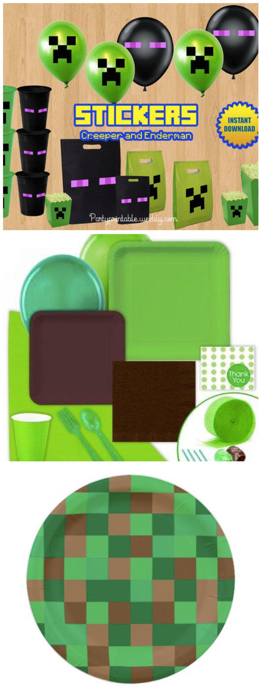 block miner minecraft party planning ideas supplies. Black Bedroom Furniture Sets. Home Design Ideas