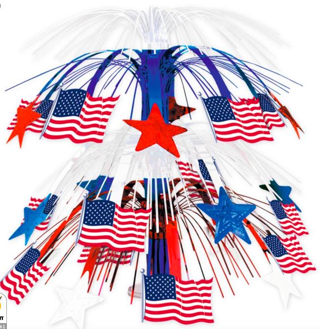 Patriotic Star Print Cascade Centerpiece