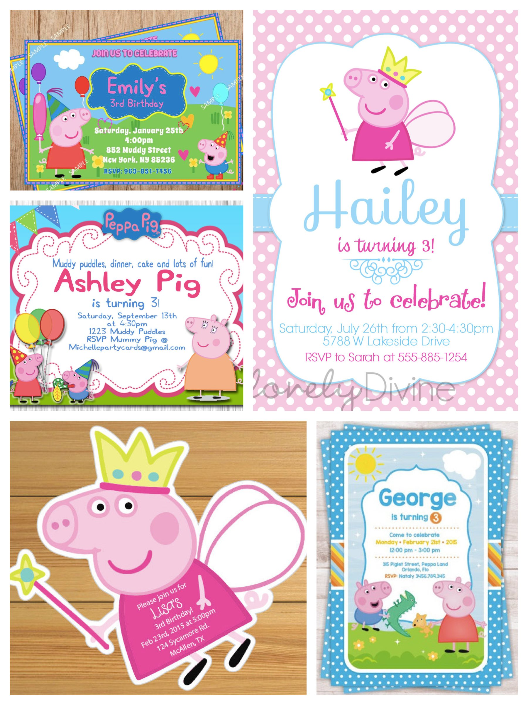 Peppa Pig Birthday Invitations – gangcraft.net
