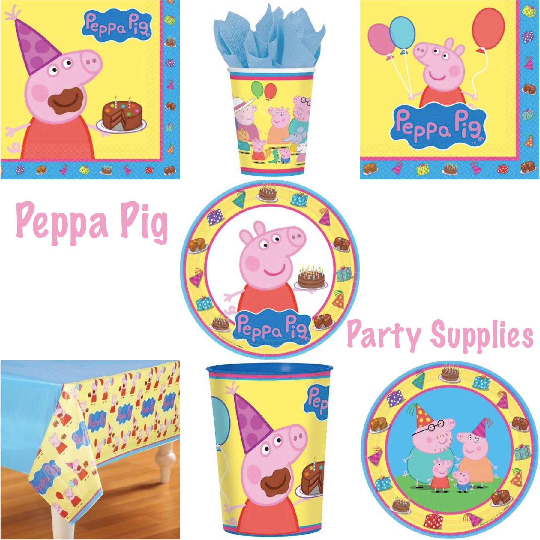 Peppa Pig Birthday Party Supplies