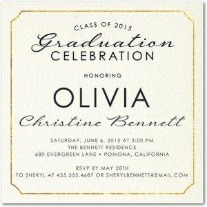 impeccable honor graduation invitations
