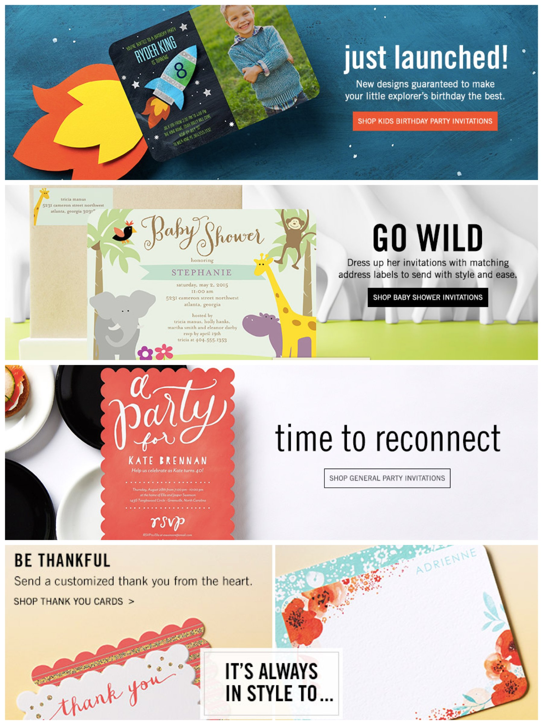 Invitations & Thank You Notes
