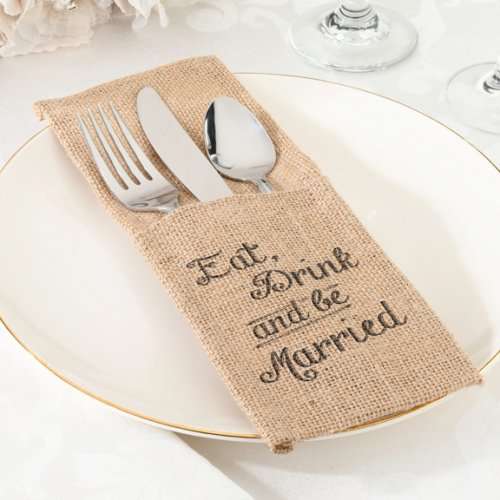 Wedding Burlap Silverware Holders