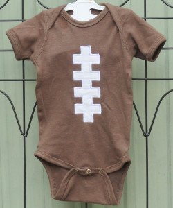 Brown Football Baby Bodysuit