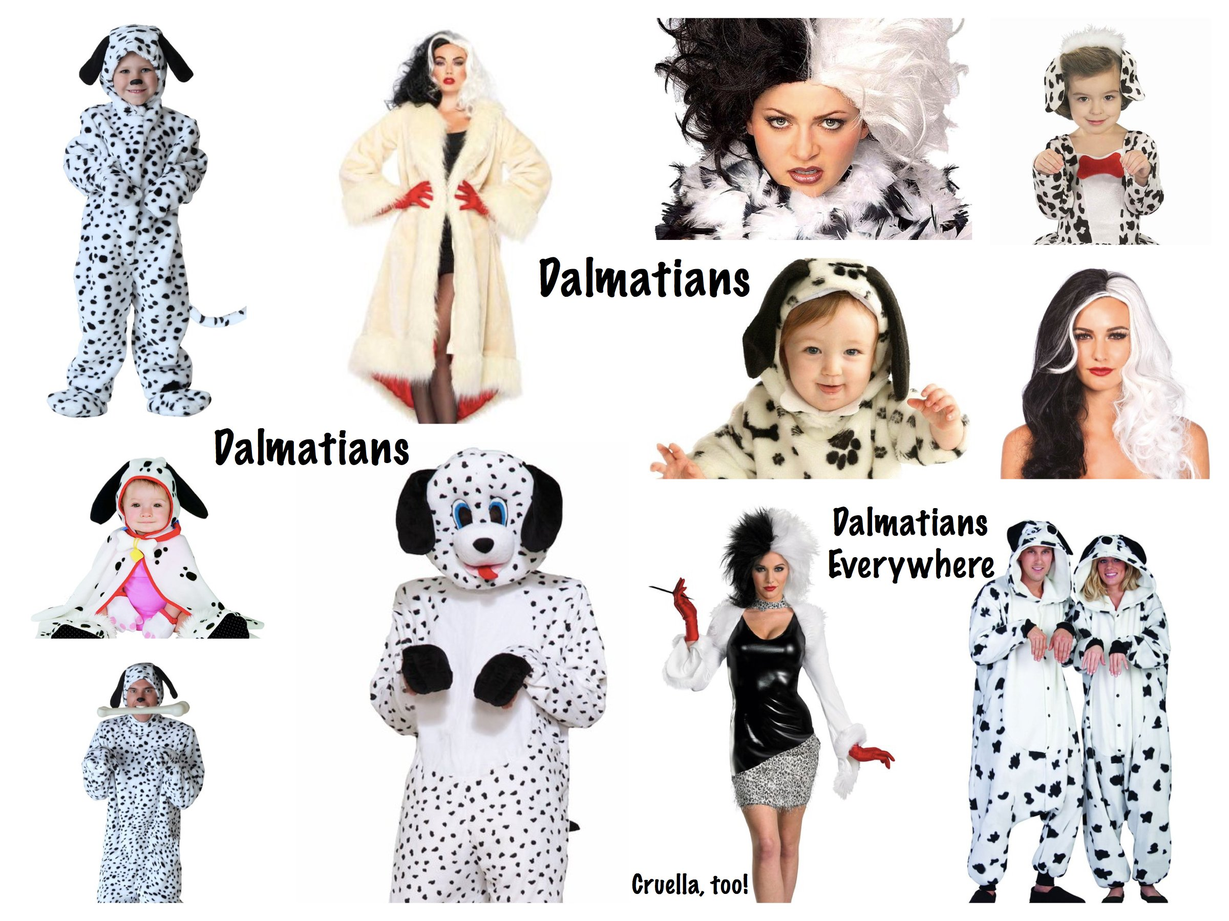 Mommy Daddy and Me 101 Dalmatians Costumes