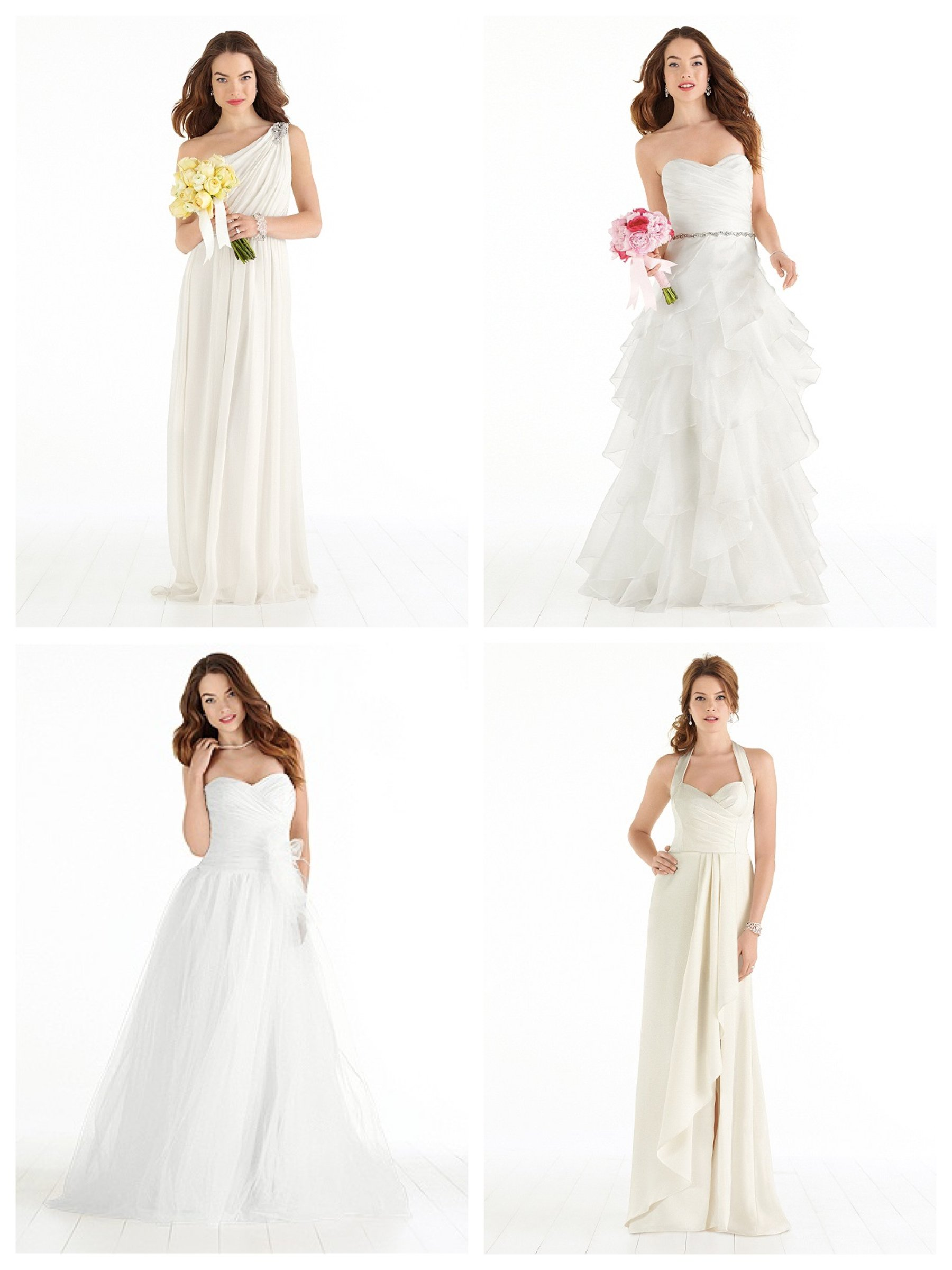 Dessy Plus Size Immediate Delivery Wedding Gowns