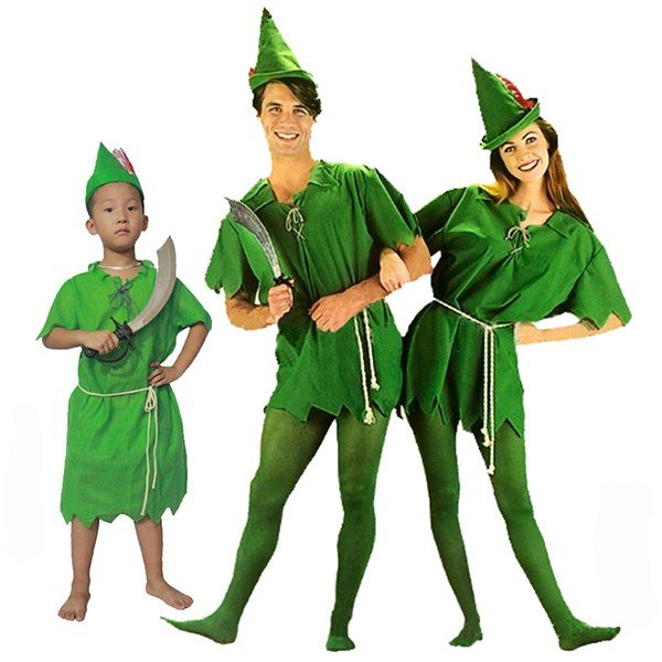 Halloween Peter and Wendy Peter Pan Family Cosplay Costume