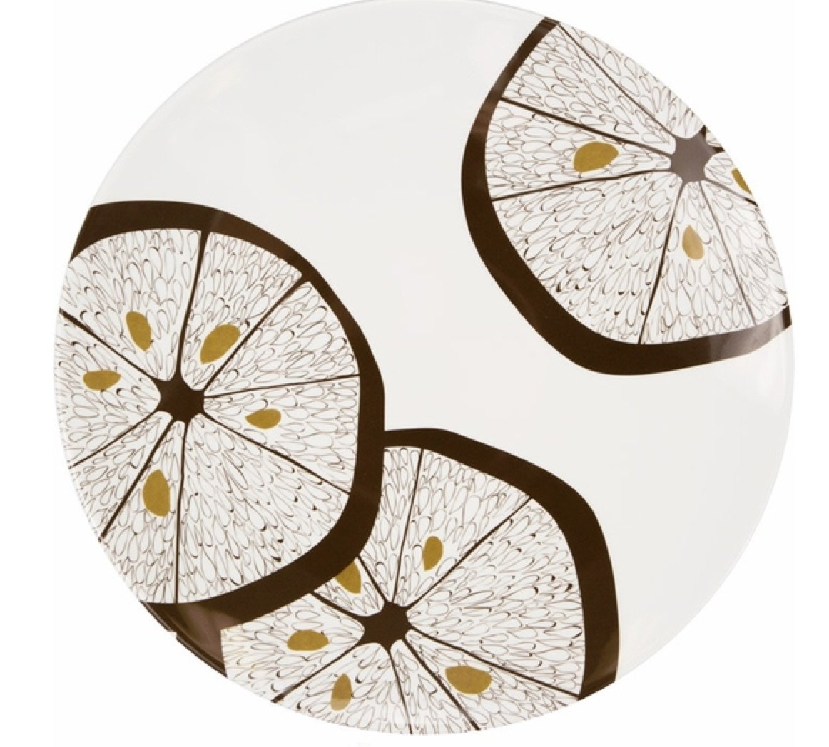 Lemonwood Plate, Elegant Party Supplies, Elegant Party Supplies by Designer Michael Aram