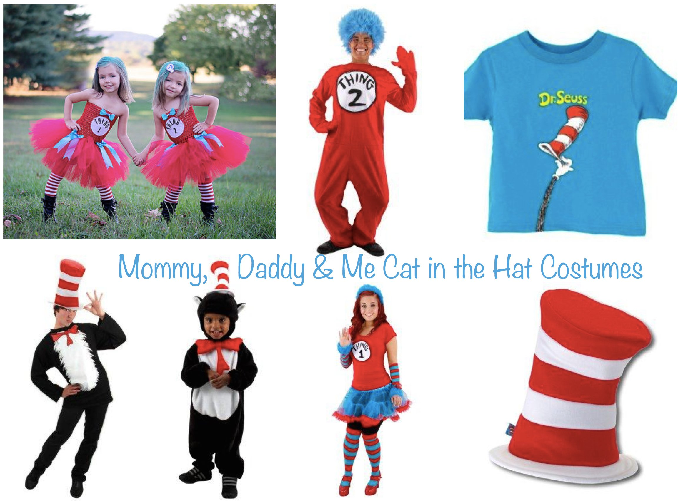 Mommy Daddy and Me Cat in the Hat Costumes