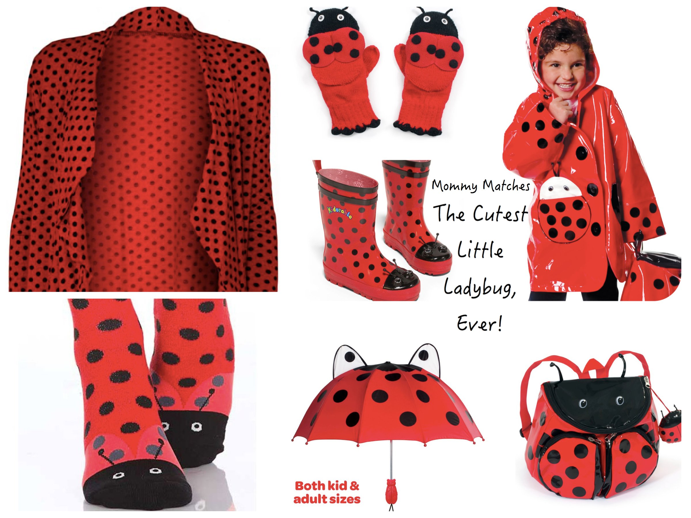 Mother Daughter Matching Ladybugs