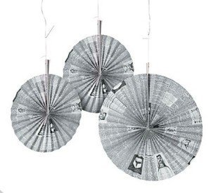 Old Newspaper Print Hanging Fans