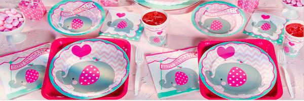 Pink Elephant 1st Birthday Supplies