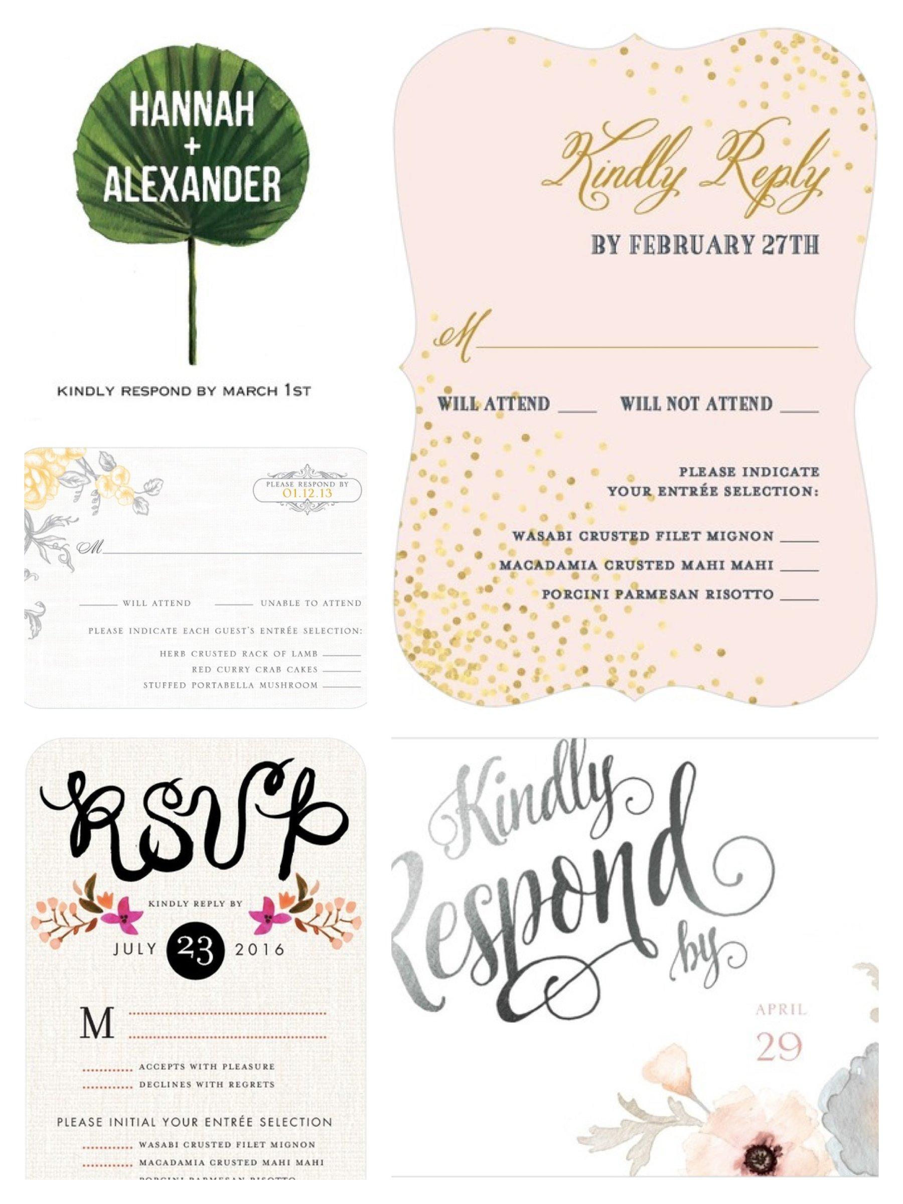 Response Cards, Wedding Invitation Wording