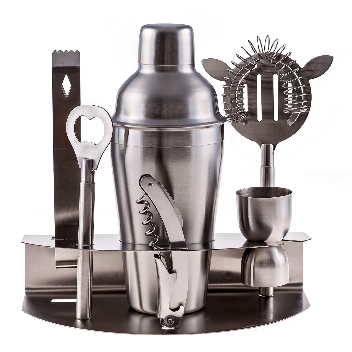 Stainless Steel Cocktail Bar Tool Set, Home Bar Essentials